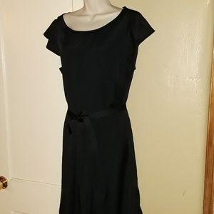 Mossimo XL Black Flutter Sleeve Dress